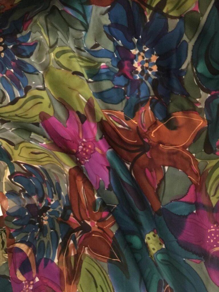 Printed Floral Silk