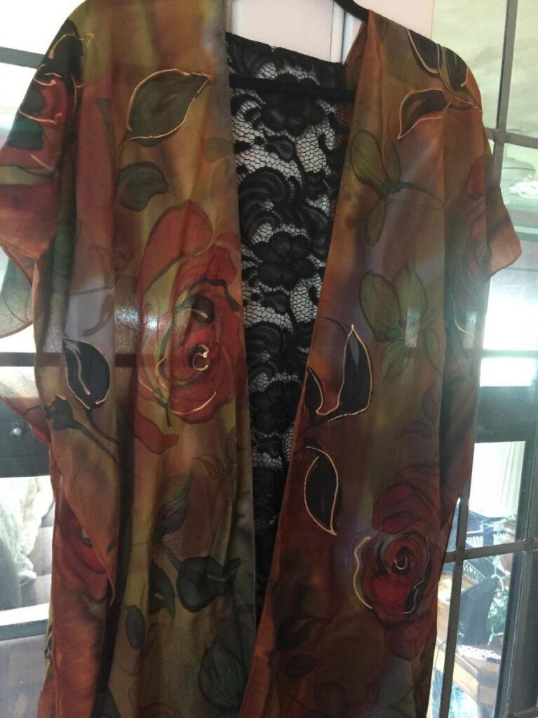 Printed Brown Silk