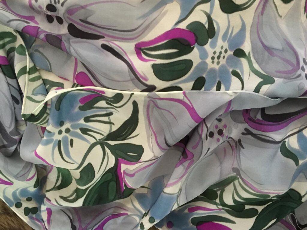 Floral Printed Silk