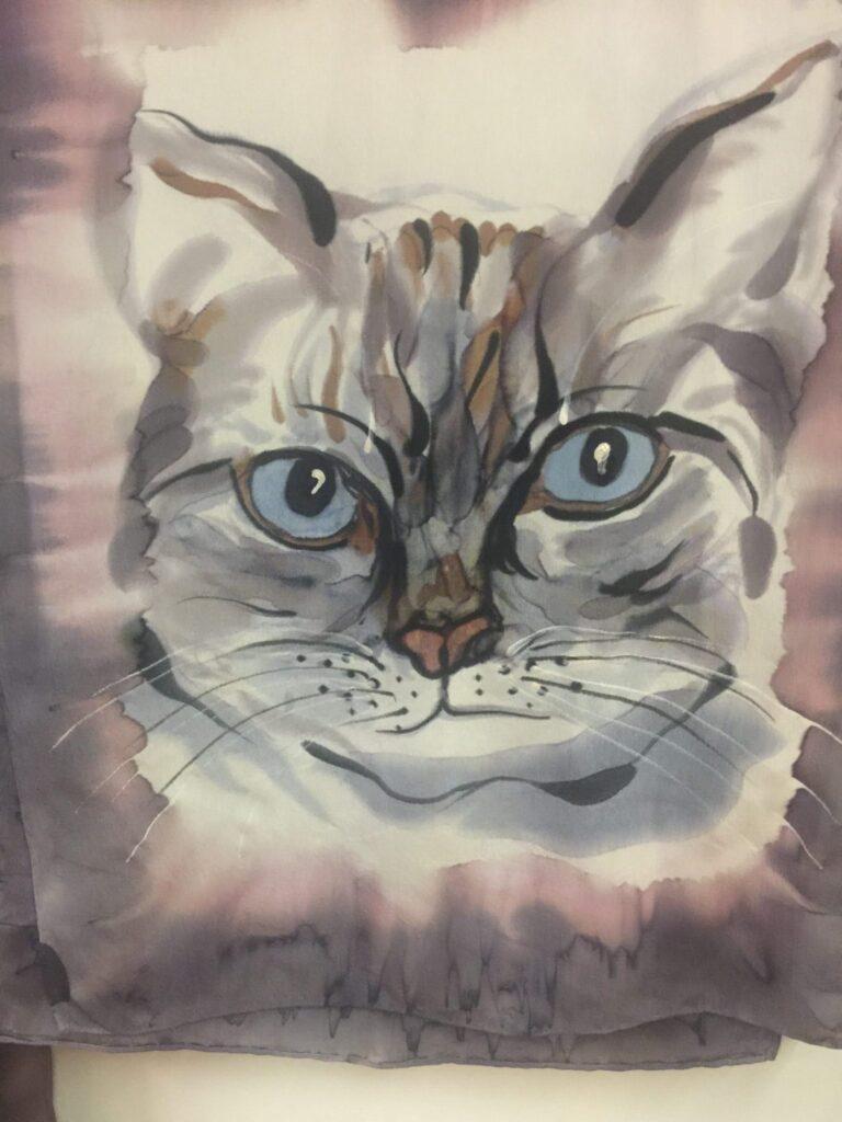 White Kitty Scarf