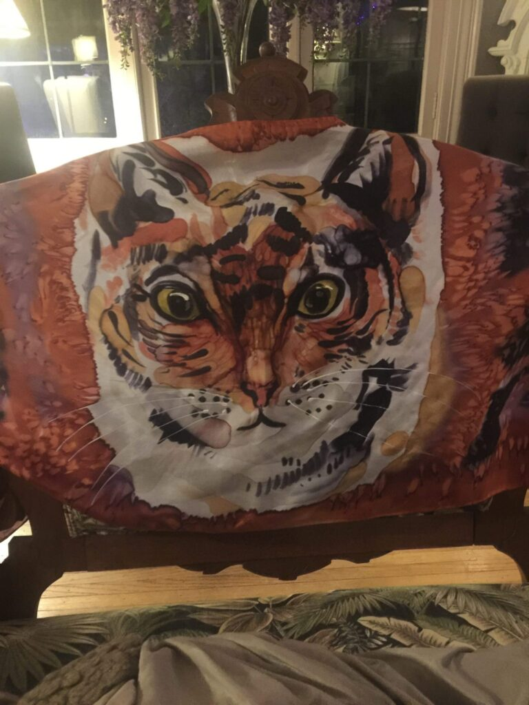 Printed Kitty Scarf