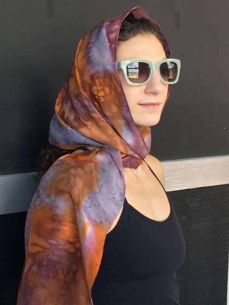 Woman Wearing Brown Printed Cape