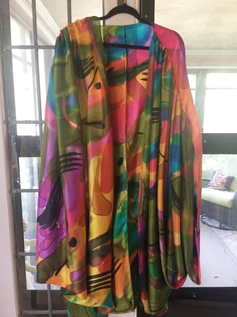 Multicolor Printed Cape